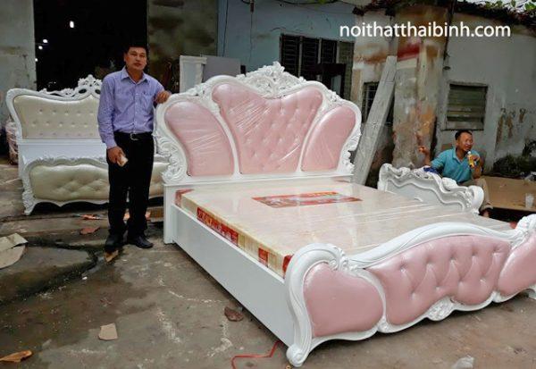 Giường ngủ cao cấp đẹp hiện đại