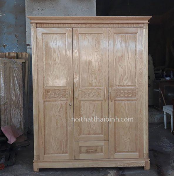 Tủ quần áo gỗ sồi tự nhiên