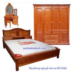 Bộ nội thất phòng ngủ gỗ căm xe