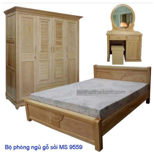 Bộ phòng ngủ gỗ sồi