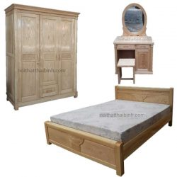 Bộ phòng ngủ gỗ sồi giá rẻ
