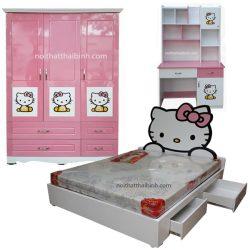 Bộ phòng ngủ cho bé Hello Kitty
