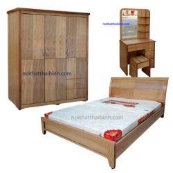 Bộ phòng ngủ gỗ công nghiệp sồi
