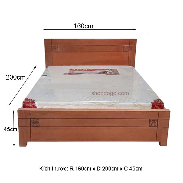 Kích thước giường ngủ gỗ công nghiệp