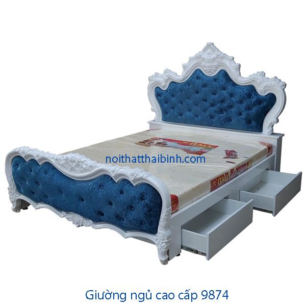 Giường ngủ đẹp có hộc kéo