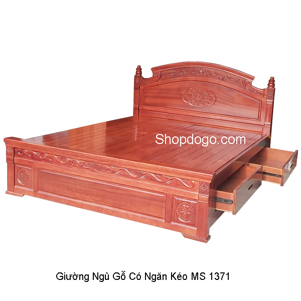 Giường ngủ gỗ vạt tấm