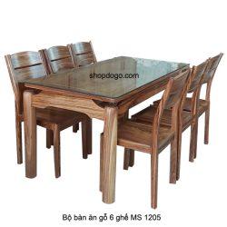 Bộ bàn ăn gỗ 6 ghế