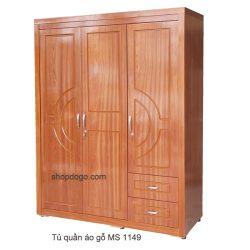 Tủ quần áo gỗ cao su ghép